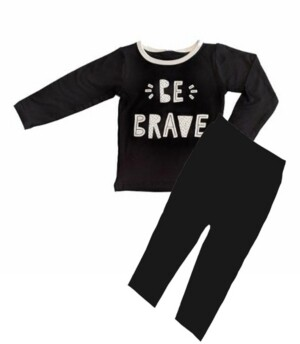 Earth Baby Outfitters Toddler Boys Bamboo Long Sleeve 2 Piece Be Brave Pajamas Set