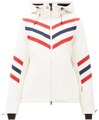 Perfect Moment Chevron-striped Technical Ski Jacket - Womens - White