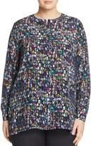 Marina Rinaldi Balocco Pebble-Print Silk Blouse