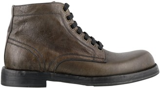 Dolce & Gabbana Perugino Lace-Up Ankle Boots