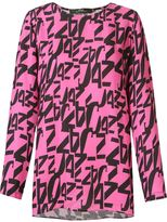 Andrea Marques - printed longsleeved blouse - women - Cotton - 36
