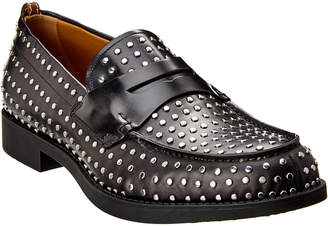 Burberry D Ring Studded Leather Loafer
