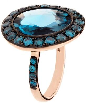 Annoushka Dusty Diamonds Topaz Ring Size O