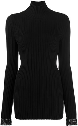 Paco Rabanne Ribbed-Knit Buttoned Jumper