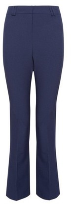 Dorothy Perkins Womens Navy Regular Bootcut Trousers, Navy