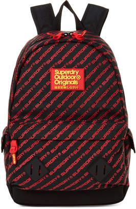 Superdry Black & Red Moto Montana Backpack