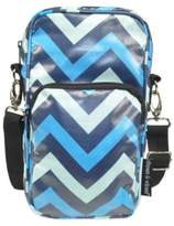 Diapees & Wipees Laminated Hipster Bag in Blue Chevron