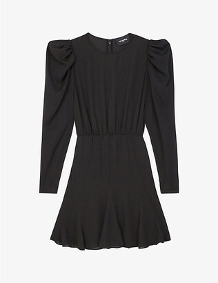 The Kooples Puffed-sleeve crepe dress