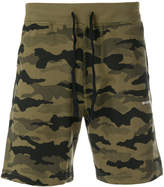 Diesel camouflage print track shorts