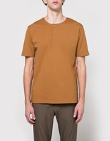 Lemaire Henley Tee Shirt in Tobacco