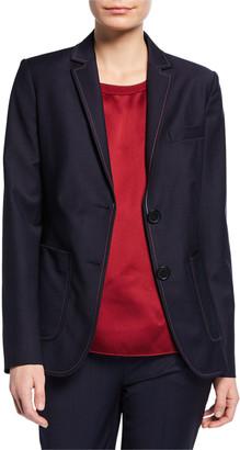 Piazza Sempione Stitched Pinstripe Jacket