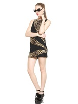 Moschino Cheap & Chic Leopard Printed Crepe Dress