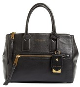 Marc Jacobs Recruit East/west Pebbled Leather Tote - Black