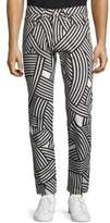 Dries Van Noten Two-Tone Stripe Cotton Jeans