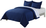 Epoch Hometex/Lotus Home Lotus Home Diamondesque Water and Stain Resistant Quilt, Navy, King