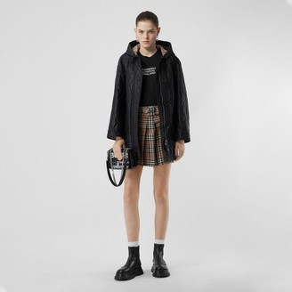 Burberry Diamond Quilted Cotton Hooded Coat