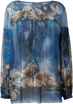 Alberta Ferretti seashells print blouse - women - Silk - 40