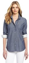 Calvin Klein Jeans Women's Petite Dot Fitted Shirt