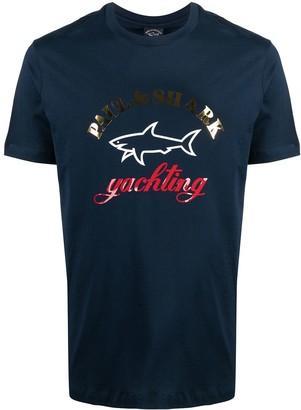 Paul & Shark shark logo-embroidered T-shirt