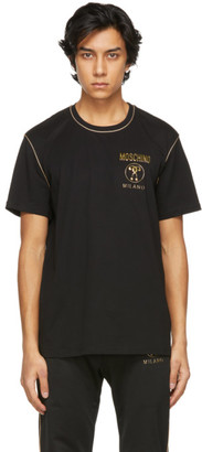 Moschino Black and Gold Logo T-Shirt