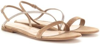 Gianvito Rossi Exclusive to Mytheresa a Manhattan embellished suede sandals