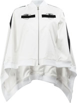 Anrealage embroidered detail cape-style bomber jacket - women - Cotton/Polyurethane/Cupro/Rayon - 36