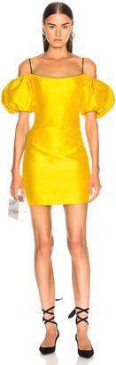 Rasario Puff Sleeve Mini Dress in Yellow | FWRD