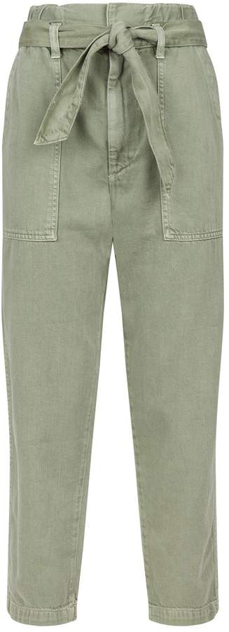 Amo Denim Paperbag Straight-Leg Jeans
