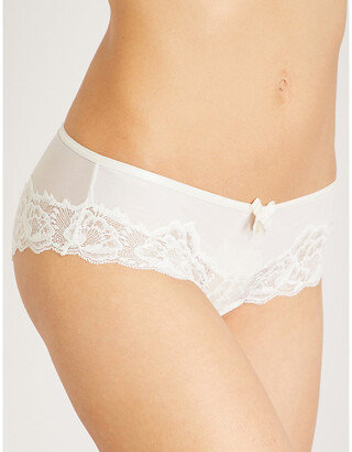 Chantelle Orangerie mesh and lace hipster briefs