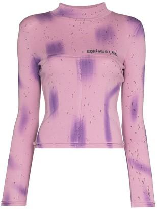 Eckhaus Latta Lapped Baby splatter-print T-shirt