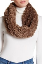 David & Young Teddy Faux Fur Infinity Scarf