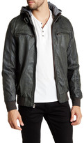 X-Ray Fleece Lined Faux Leather Jacket