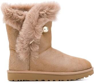 UGG Fur Detail Boots