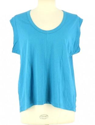 American Vintage Blue Cotton Top for Women