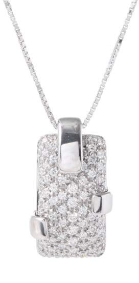 Damiani 18k White Gold Pave Diamond Necklace
