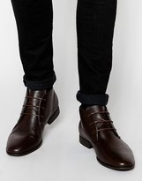 Asos Chukka Boots In Brown - Brown