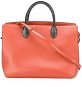 Jil Sander contrast fastening tote bag - women - Calf Leather/Snake Skin - One Size