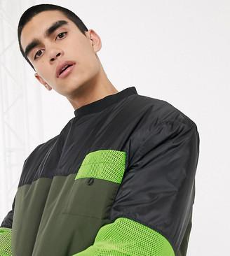 Collusion padded nylon sweatshirt