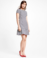 Brooks Brothers Cotton Blend Gingham Dress
