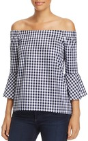 Cupio Off-The-Shoulder Gingham Top