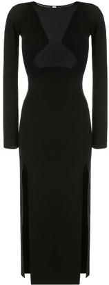 Dion Lee Layered Mesh Dress With Front Slits