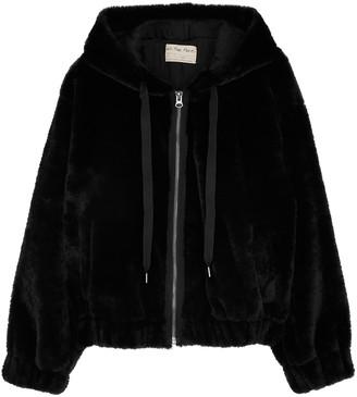 Free People Freya black faux fur jacket