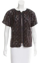 Piazza Sempione Short Sleeve Guipure Lace Top