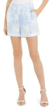 INC International Concepts Inc Tie-Dye Linen-Blend Shorts, Created for Macy's