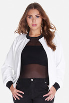 Fashion to Figure Fable Techno Crepe Bomber Jacket