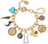 Betsey Johnson Gold-Tone Multi-Charm Bracelet