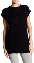 Cullen Short Sleeve Mixed Knit Cashmere Tunic