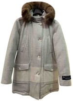 Woolrich Grey Cashmere Coat for Women