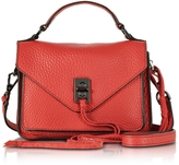 Rebecca Minkoff Blood Orange Leather Mini Darren Messenger Bag