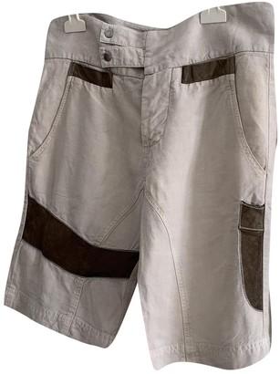 Dondup Beige Cloth Shorts for Women Vintage